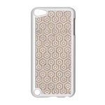 HEXAGON1 WHITE MARBLE & SAND Apple iPod Touch 5 Case (White) Front