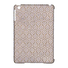 Hexagon1 White Marble & Sand Apple Ipad Mini Hardshell Case (compatible With Smart Cover) by trendistuff