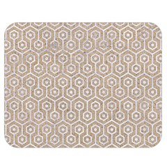 Hexagon1 White Marble & Sand Double Sided Flano Blanket (medium)  by trendistuff