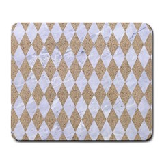 Diamond1 White Marble & Sand Large Mousepads by trendistuff