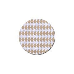Diamond1 White Marble & Sand Golf Ball Marker (4 Pack) by trendistuff