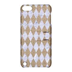 Diamond1 White Marble & Sand Apple Ipod Touch 5 Hardshell Case With Stand by trendistuff