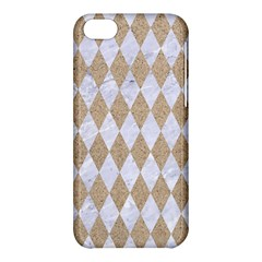 Diamond1 White Marble & Sand Apple Iphone 5c Hardshell Case by trendistuff