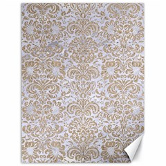 Damask2 White Marble & Sand (r) Canvas 18  X 24