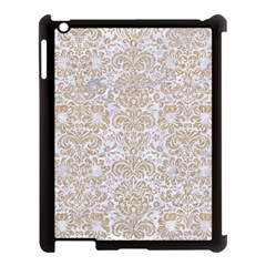 Damask2 White Marble & Sand (r) Apple Ipad 3/4 Case (black) by trendistuff