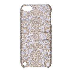 Damask2 White Marble & Sand (r) Apple Ipod Touch 5 Hardshell Case With Stand by trendistuff