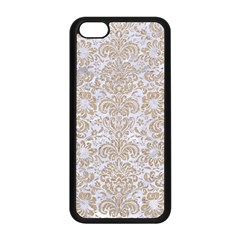 Damask2 White Marble & Sand (r) Apple Iphone 5c Seamless Case (black) by trendistuff