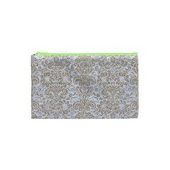 Damask2 White Marble & Sand (r) Cosmetic Bag (xs) by trendistuff