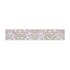Damask2 White Marble & Sand (r) Flano Scarf (mini) by trendistuff