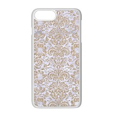 Damask2 White Marble & Sand (r) Apple Iphone 8 Plus Seamless Case (white) by trendistuff