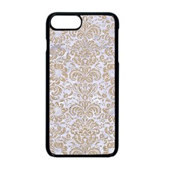 Damask2 White Marble & Sand (r) Apple Iphone 8 Plus Seamless Case (black) by trendistuff