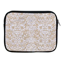 Damask2 White Marble & Sand Apple Ipad 2/3/4 Zipper Cases by trendistuff