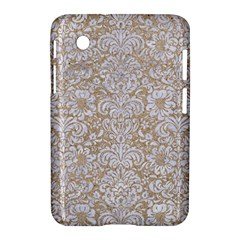 Damask2 White Marble & Sand Samsung Galaxy Tab 2 (7 ) P3100 Hardshell Case  by trendistuff