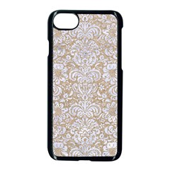 Damask2 White Marble & Sand Apple Iphone 7 Seamless Case (black) by trendistuff