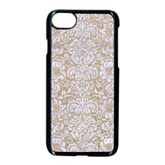 Damask2 White Marble & Sand Apple Iphone 8 Seamless Case (black) by trendistuff