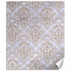 Damask1 White Marble & Sand (r) Canvas 20  X 24   by trendistuff