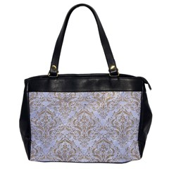 Damask1 White Marble & Sand (r) Office Handbags by trendistuff
