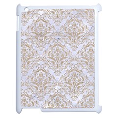 Damask1 White Marble & Sand (r) Apple Ipad 2 Case (white) by trendistuff