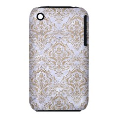 Damask1 White Marble & Sand (r) Iphone 3s/3gs by trendistuff