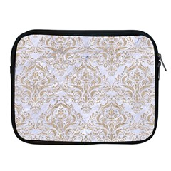 Damask1 White Marble & Sand (r) Apple Ipad 2/3/4 Zipper Cases by trendistuff