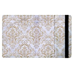 Damask1 White Marble & Sand (r) Apple Ipad Pro 9 7   Flip Case by trendistuff