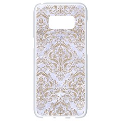 Damask1 White Marble & Sand (r) Samsung Galaxy S8 White Seamless Case by trendistuff