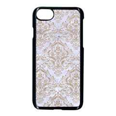 Damask1 White Marble & Sand (r) Apple Iphone 8 Seamless Case (black) by trendistuff