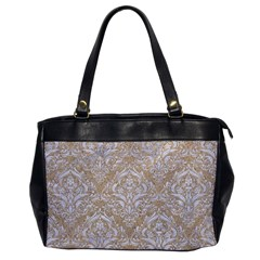 Damask1 White Marble & Sand Office Handbags by trendistuff