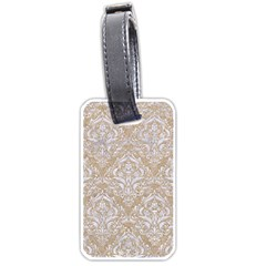 Damask1 White Marble & Sand Luggage Tags (two Sides) by trendistuff