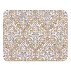 Damask1 White Marble & Sand Double Sided Flano Blanket (large)  by trendistuff