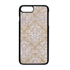 Damask1 White Marble & Sand Apple Iphone 7 Plus Seamless Case (black) by trendistuff