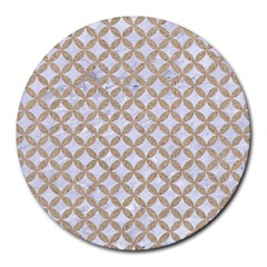 Circles3 White Marble & Sand (r) Round Mousepads by trendistuff