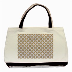 Circles3 White Marble & Sand (r) Basic Tote Bag (two Sides) by trendistuff