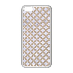 Circles3 White Marble & Sand (r) Apple Iphone 5c Seamless Case (white) by trendistuff