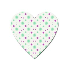 Stars Motif Multicolored Pattern Print Heart Magnet by dflcprints