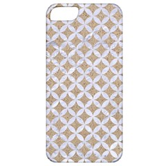 Circles3 White Marble & Sand Apple Iphone 5 Classic Hardshell Case by trendistuff