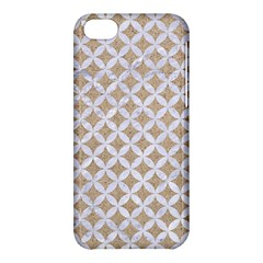 Circles3 White Marble & Sand Apple Iphone 5c Hardshell Case by trendistuff