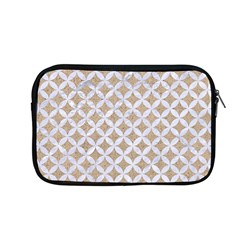 Circles3 White Marble & Sand Apple Macbook Pro 13  Zipper Case by trendistuff