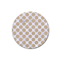 Circles2 White Marble & Sand (r) Magnet 3  (round) by trendistuff