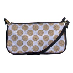 Circles2 White Marble & Sand (r) Shoulder Clutch Bags by trendistuff