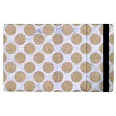 Circles2 White Marble & Sand (r) Apple Ipad Pro 9 7   Flip Case by trendistuff