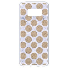 Circles2 White Marble & Sand (r) Samsung Galaxy S8 White Seamless Case by trendistuff