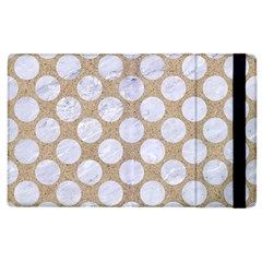 Circles2 White Marble & Sand Apple Ipad 3/4 Flip Case by trendistuff
