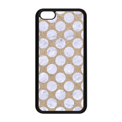 Circles2 White Marble & Sand Apple Iphone 5c Seamless Case (black) by trendistuff
