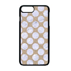Circles2 White Marble & Sand Apple Iphone 7 Plus Seamless Case (black) by trendistuff