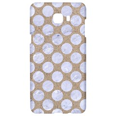 Circles2 White Marble & Sand Samsung C9 Pro Hardshell Case  by trendistuff