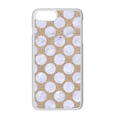 Circles2 White Marble & Sand Apple Iphone 8 Plus Seamless Case (white) by trendistuff