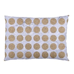 Circles1 White Marble & Sand (r) Pillow Case by trendistuff