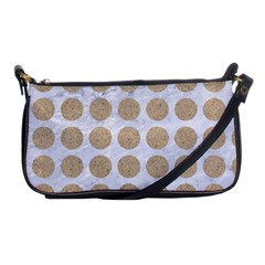 Circles1 White Marble & Sand (r) Shoulder Clutch Bags by trendistuff