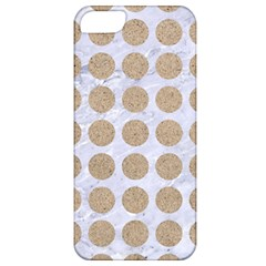 Circles1 White Marble & Sand (r) Apple Iphone 5 Classic Hardshell Case by trendistuff